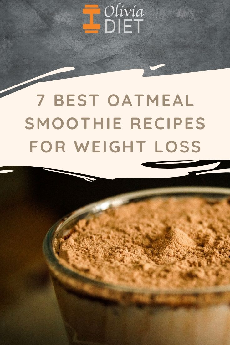 Oatmeal Smoothies For Weight Loss