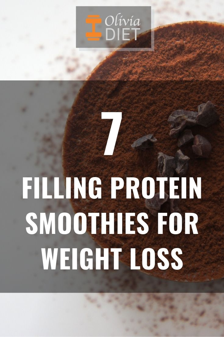 filling protein smoothies for weight loss