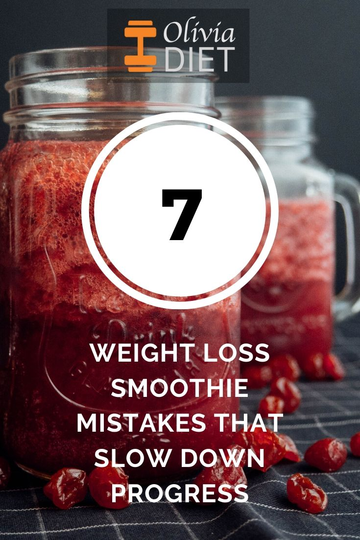 weight loss smoothie mistakes