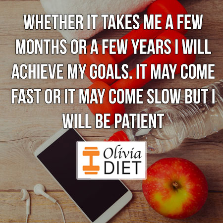 Whether it takes me a few months or a few years I will achieve my goals. It may come fast or it may come slow but I will be patient